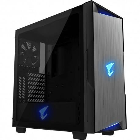Gabinete Gigabyte Aorus C300 Glass RGB Midi Tower Negro USB 3.1