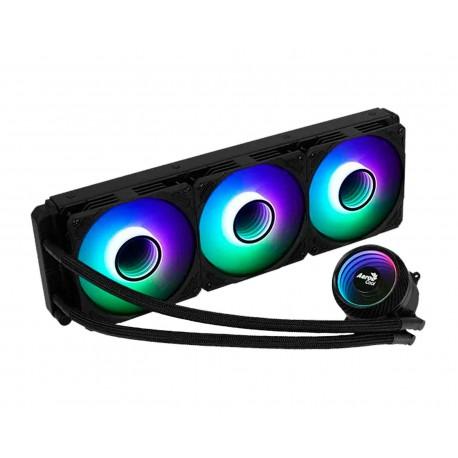 Enfriamiento Liquido Aerocool Mirage L360 Argb Intel Amd color Negro
