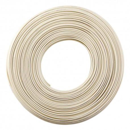 Cable Telefónico Mitzu 14-1010m color Blanco Plano