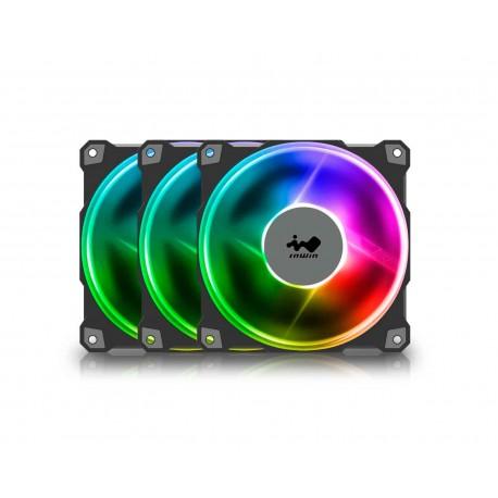 Ventilador Inwin Jupiter Aj120 3x120mm color Negro Argb Iw-fn-aj120-3pk 1800rpm 35dba