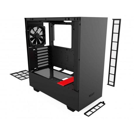 Gabinete Nzxt H510i color Negro Mate Atx Cristal USB C Ca-h510i-br