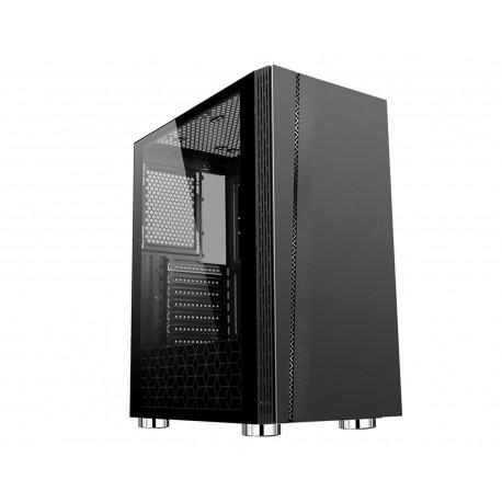 Gabinete Balam Rush Basilisk color Negro RGB Atx Cristal Templado con USB 3.0