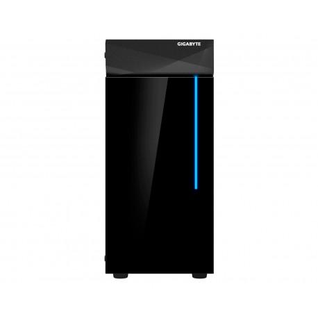 Gabinete Gigabyte GB-C200G Glass color Negro RGB Atx S/Fuente de Cristal Templado