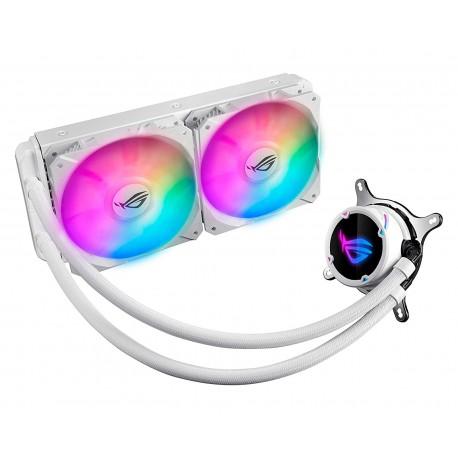Enfriamiento Liquido Asus Rog Strix Lc240 Rgb color Blanco 2x120mm Intel/amd
