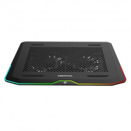 Base Enfriadora Deep Cool N80 color Negro RGB USB 3.0 140 mm