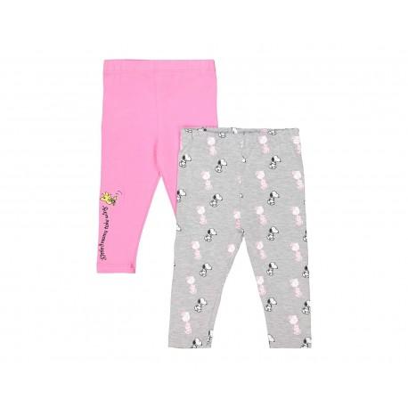 Leggings marca Snoopy para Niña (2 piezas)
