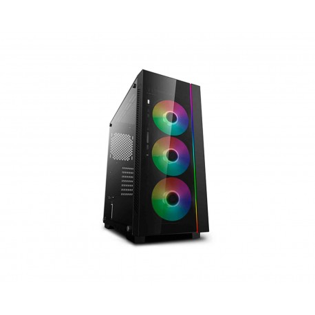 Gabinete Deepcool DP-ATX-MATREXX55V3-AR color Negro Matrexx 55 V3 Argb Eatx S/Fuente Cristal