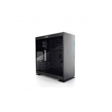 Gabinete Inwin 303 Led Azul Atx S/fuente Cristal Iw-303-black color Negro