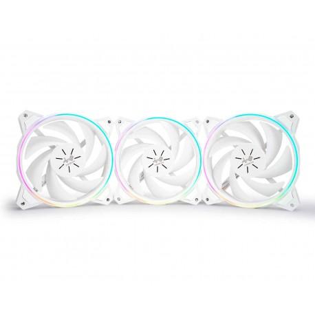 Ventilador In Win Sirius Pure Asp120 3x120 Argb Asp120fan-3pk color Blanco