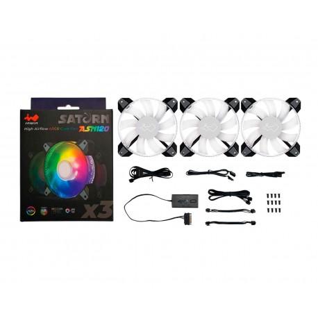Ventilador In Win Saturn Asn120 3x120 Argb Iw-fn-asn120-3pk color Negro