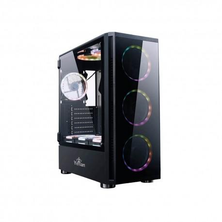 Carsaca Yeyian Gaming Pc Case Shadow 2200 modelo Ygs-68808 color Negro