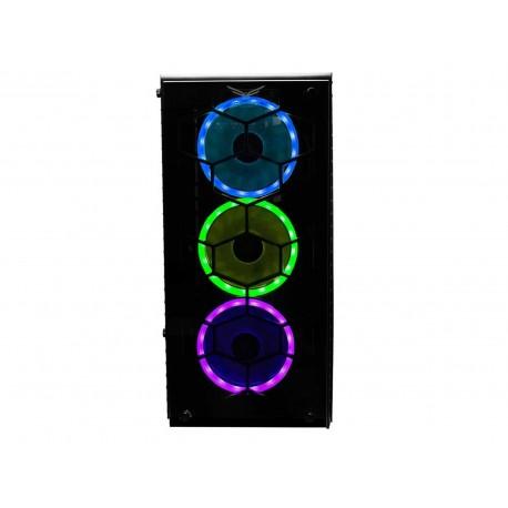 Gabinete Evotec Hydra Rgb Eatx S/fuente Cristal Na-0602 color Negro