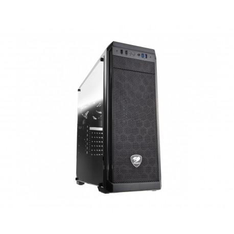 Gabinete Cougar Mx330-g Atx S/fuente Cristal 385NC10.0006 color Negro