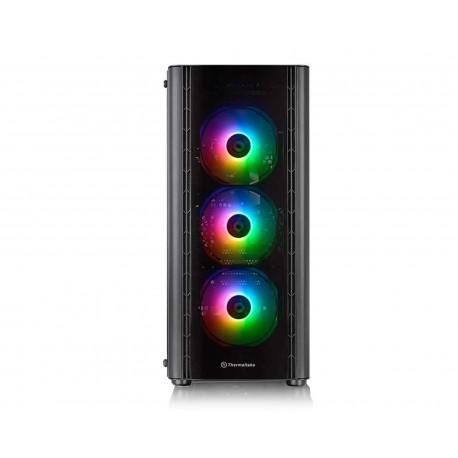 Gabinete Thermaltake V250tg Argb Atx S/fuente Cristal Ca-1q5-00m1wn-00 color Negro