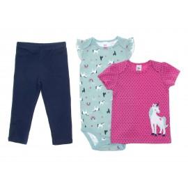 Conjunto Rosa marca Precious Baby by Carters para Bebé Niña