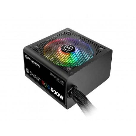 Fuente de Poder Thermaltake 500w Rgb 80plus Smart Ps-spr-0500nhfawu-1
