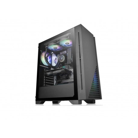Gabinete Thermaltake H330 Tg Atx Cristal color Negro
