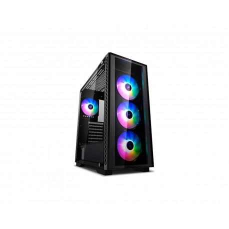 Gabinete Deepcool Matrexx 50 Negro Argb Eatx S/fuente Cristal color Negro