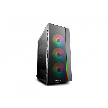 Gabinete Deepcool Matrexx 55 V3 Argb Eatx S/ Fuente Cristal color Negro