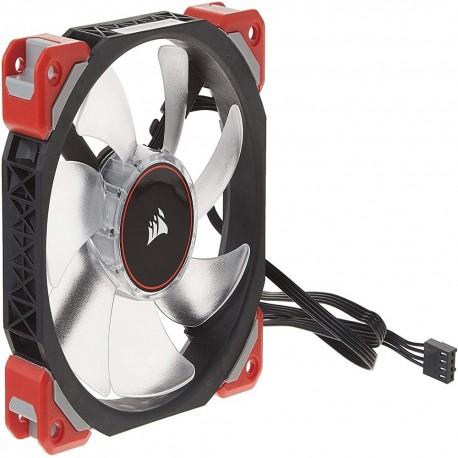 Ventilador Corsair Ml120 Magnética Led color Rojo