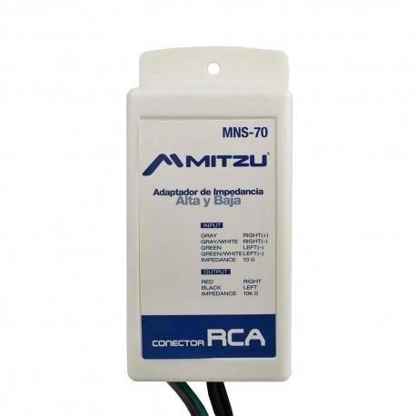 Adaptador de Impedancia Mitzu Mns-70 color Negro