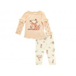 Conjunto de Algodón marca Rene Rofe para Bebé Niña