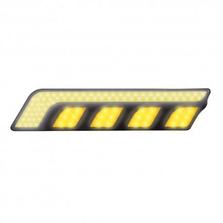 Luz Led Auxiliar Mitzu 10-5846 Amarillo Rígida de 16 cm