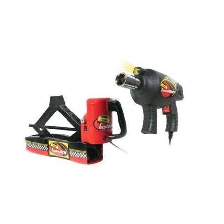 Gato Hidráulico Instajack Js1000 color Rojo con Pistola de Impacto