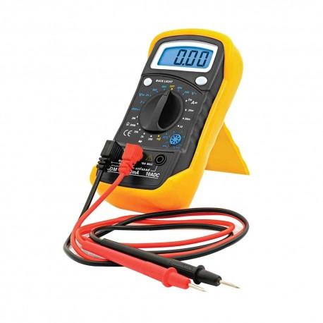 Multímetro Digital Bork Mp-6014 color Amarillo con Medidor de Frecuencia