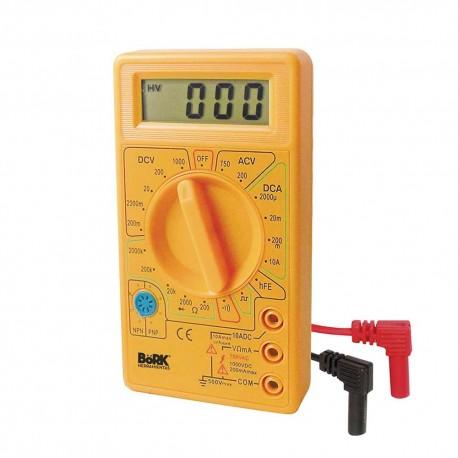 Multímetro Digital Bork Mp-6010 con Frecuencia Buzzer