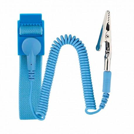 Pulsera Ajustable Antiestática Bork Pul-1000 color Azul