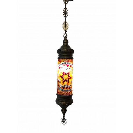 Lámpara Turca Cilíndrica Mosaico de Pared Techo Multicolor