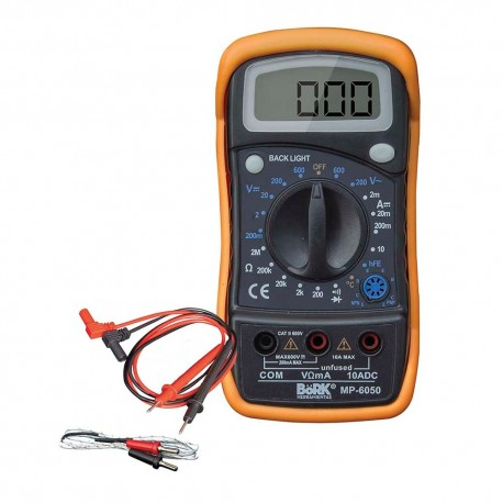 Multímetro Digital Bork Mp-6050 Pantalla LCD Alarma