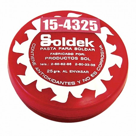 Pasta para Soldar Bork 15-4325 color Rojo de 25 gr