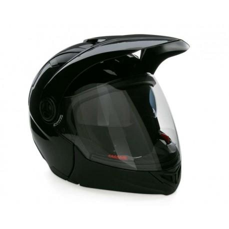 Casco para Motociclista con Visera Abatible Brumm Extragrande color Negro