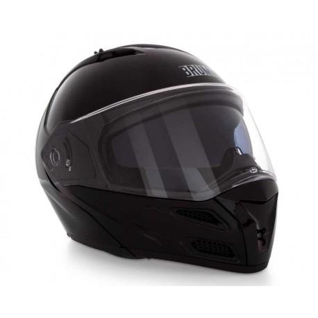 Casco para Motociclista Brumm Grande Visera Abatible color Negro
