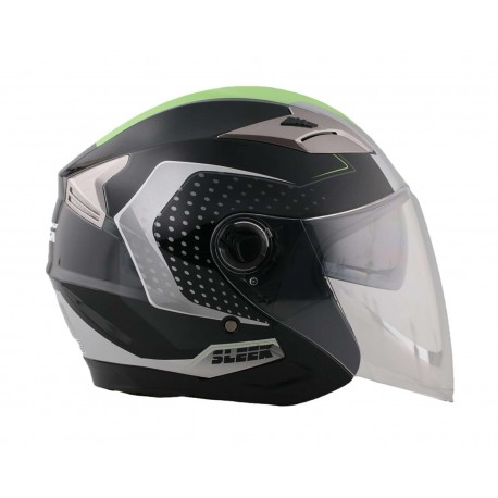 Casco para Motociclista Sleek Extra Grande 3/4 color Gris