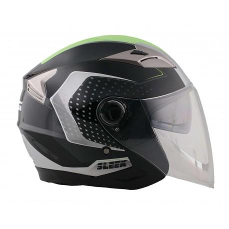 Casco para Motociclista Sleek Grande 3/4 color Gris