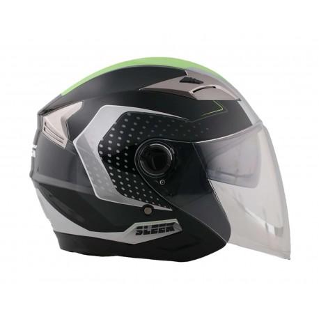 Casco para Motocicleta Sleek Mediano con Certificación Dot color Gris