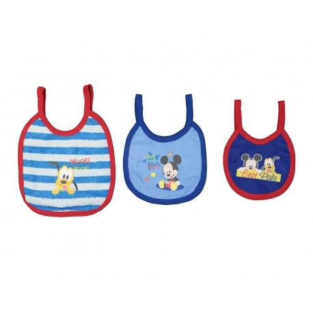 Baberos marca Disney Mickey Mouse para Bebé Niño (3 Piezas)