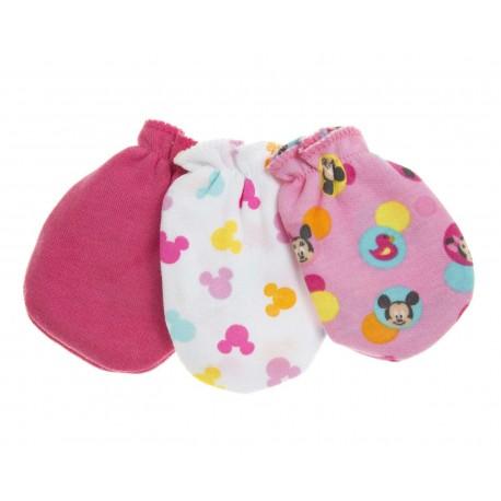 Manoplas Rosas marca Disney Minnie Mouse para Bebé Niña (3 Pares)