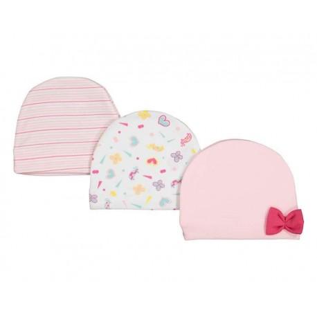 Set de Gorros marca Baby Colors para Bebé Niña
