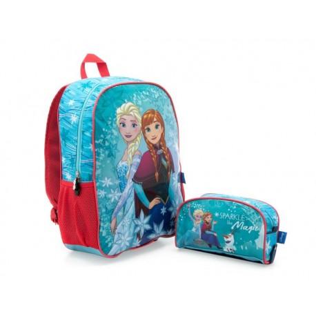 Juego de Mochila y Lapicera Disney Frozen Azul