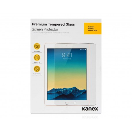 """Protector de Vidrio Templado Kanex para iPad 9.7"""""""