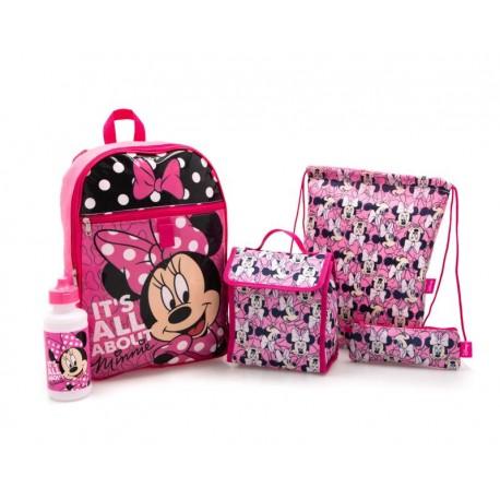 Set de Mochilas Disney Minnie Mouse Rosa