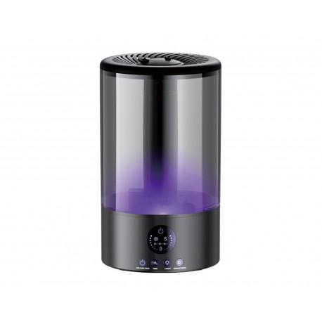Humidificador de Doble Difusión y Lámpara Ambiental Zeta color Negro