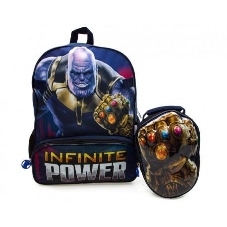 Juego de Mochila y Lonchera Marvel Thanos