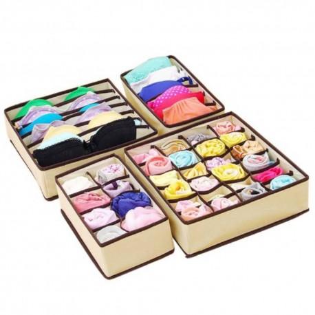 Kit Organizador de Cajones Genérico color Beige de Tela
