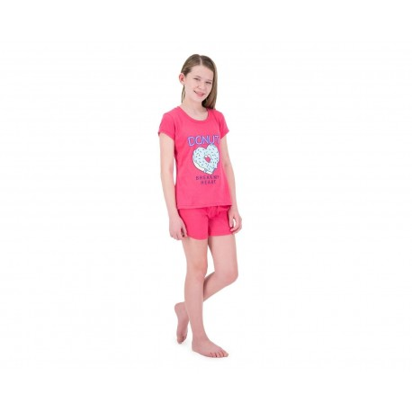 Pijama color Coral marca Girls Attitude Juvenil