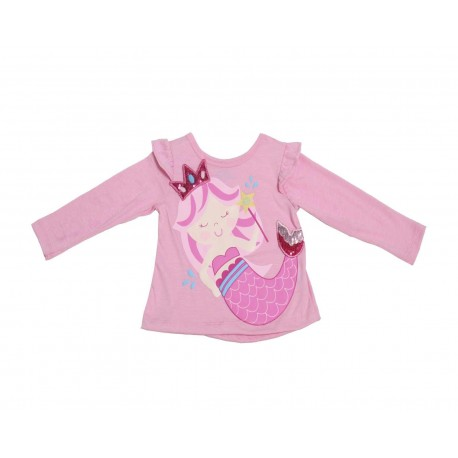Playera Baby Colors Rosa para Bebé Niña